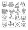 Business management icons in line style Pack 30 vector image vector image