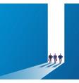 businessmen at open door future path new journey vector image vector image