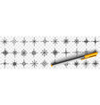 cardinal points on compass doodle set vector image vector image