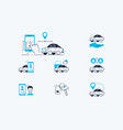 carsharing icons set vector image