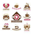 coffee shop with premium products since 1996 vector image