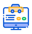 computer site for calling online taxi icon vector image