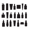containers and packages black silhouettes vector image vector image