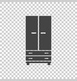 cupboard icon on isolated background modern flat vector image