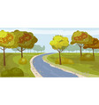 cute landscape forest river trees on the shore vector image