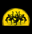 dancer dancing people group of people dancing vector image vector image