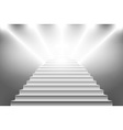 detailed of white stairs eps10 vector image