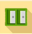 double sharpener icon flat style vector image