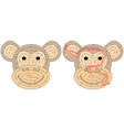 easy monkey maze vector image