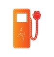 Electric car charging station sign Orange vector image vector image