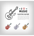 Electric guitar isolated line art icon Music vector image vector image