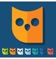 Flat design owl vector image vector image