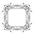 floral decorative frame black ornamental branch vector image vector image