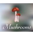 Forest mushroom vector image