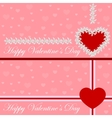 Greeting card heart of flowers Valentines day vector image vector image