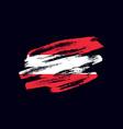 grunge textured austrian flag vector image