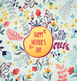 Happy Mothers Day Flowers pattern decorative card vector image vector image