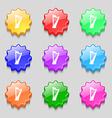harp icon sign symbol on nine wavy colourful vector image