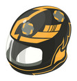 helmet motorcycle orange icon isometric 3d style vector image vector image