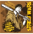 Hooligan with baseball bat Ghetto Warriors vector image vector image