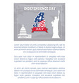 independence day 4 july posters statue liberty vector image