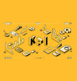 kpi business performance isometric halftone vector image