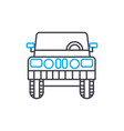 light truck thin line stroke icon light vector image