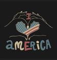 love america design vector image