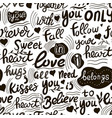 love lettering abstract text fashion vector image vector image