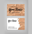 makeup artist business card template vector image vector image