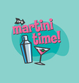 Martini Time Design vector image vector image