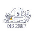 mcyber security concept online data protection vector image