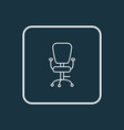 office chair icon line symbol premium quality vector image