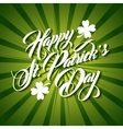 Patrick day lettering green background vector image vector image