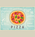 pizza retro banner vector image