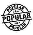 popular round grunge black stamp vector image vector image
