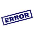 rectangle scratched error stamp vector image