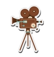 retro film projector icon vector image