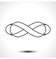 ribbon in shape limitless infinity symbol vector image vector image