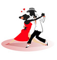 romantic dancing young african couple isolated vector image vector image