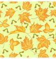 Seamless texture maple leaves autumn theme vector image vector image