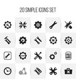 set of 20 editable repair icons includes symbols vector image vector image
