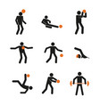 simple sport activity abstract symbol graphic set vector image