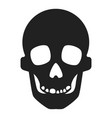 skull icon simple style vector image