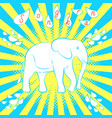 songkran new year in thailand white elephant vector image