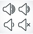 sound level icon vector image