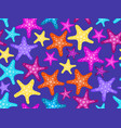 starfishes seamless pattern colorful starfish vector image vector image