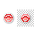 summer sale sticker 90 and 99 percent discount vector image