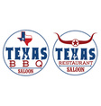 Texas restaurant and bbq vector image