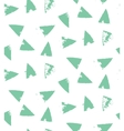 The creative hand drawn background with triangles vector image